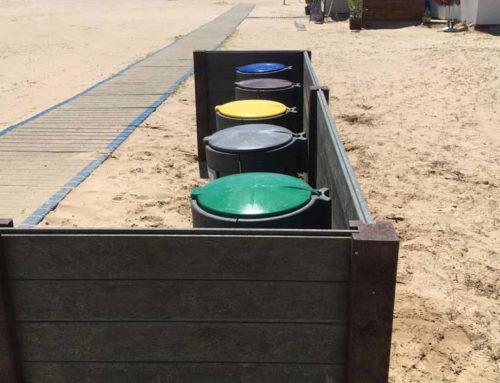 Papeleras selectivas «Playa  Ribes Roges» Vilanova i La Geltrú