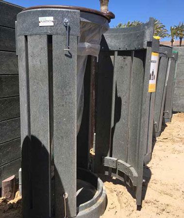 Papeleras plastico reciclado