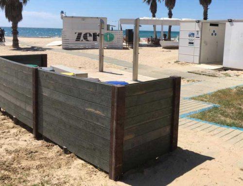 Papeleras selectivas «Playa  d'Adarró»  Vilanova i La Geltrú
