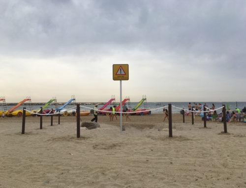 Delimitación desagües de  Rieras playa de Cambrils